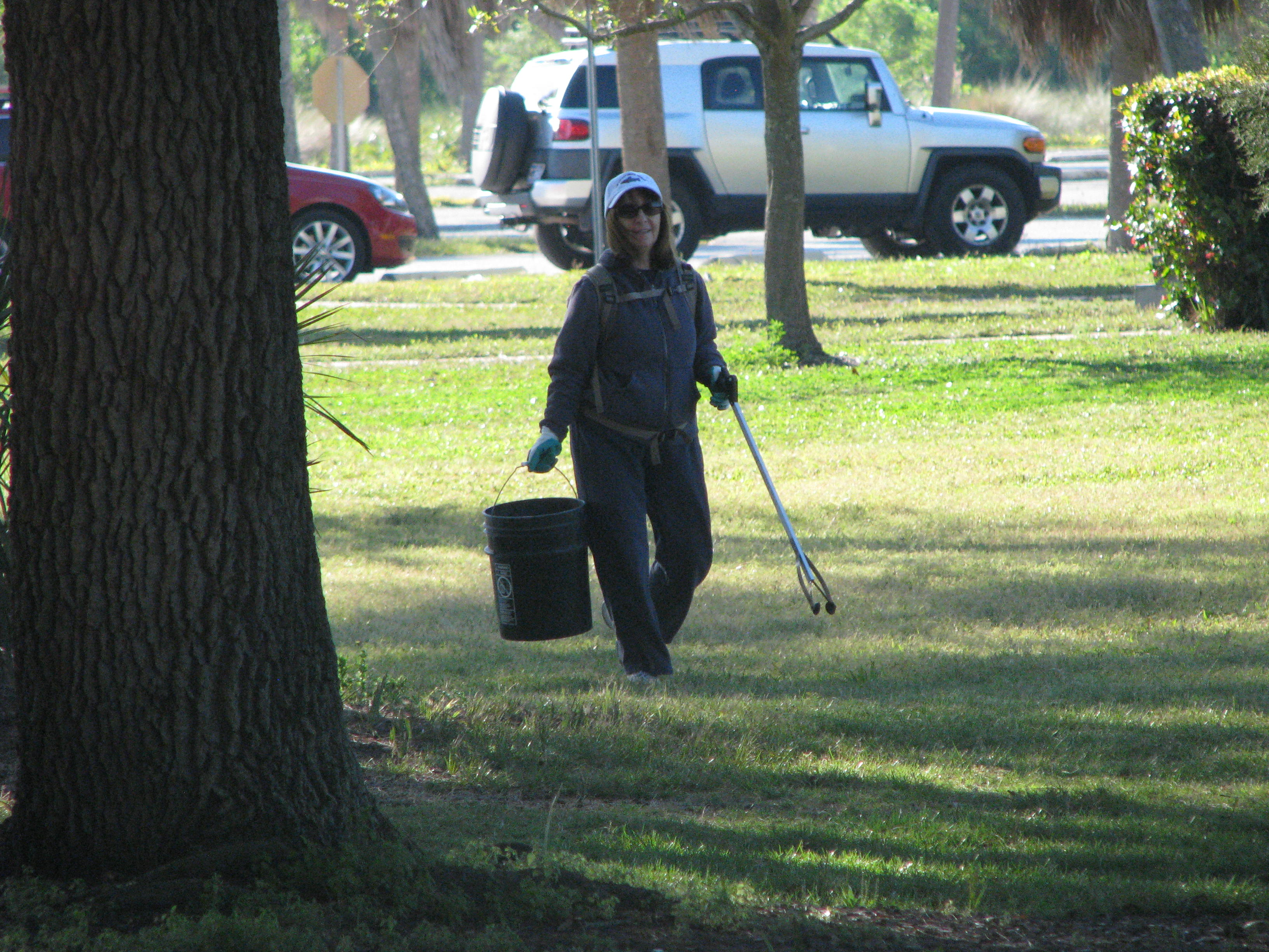 Gail on the hunt for trash