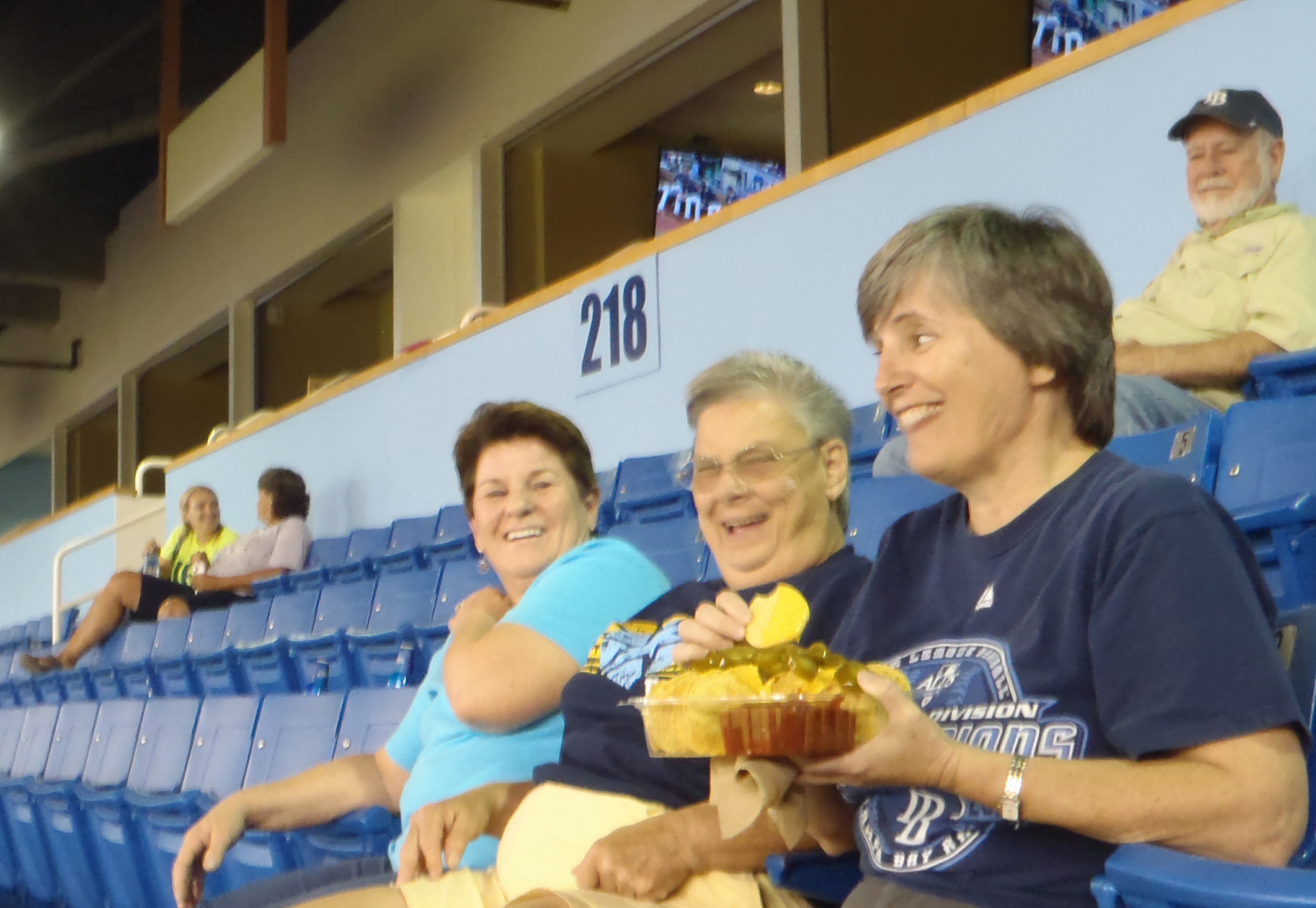 Having fun and food at Tropicana Field