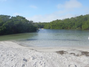Pretty beach at Ted Sperling Park near South Lido Nature Park