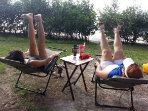 Putting your feet up at Fort De Soto
