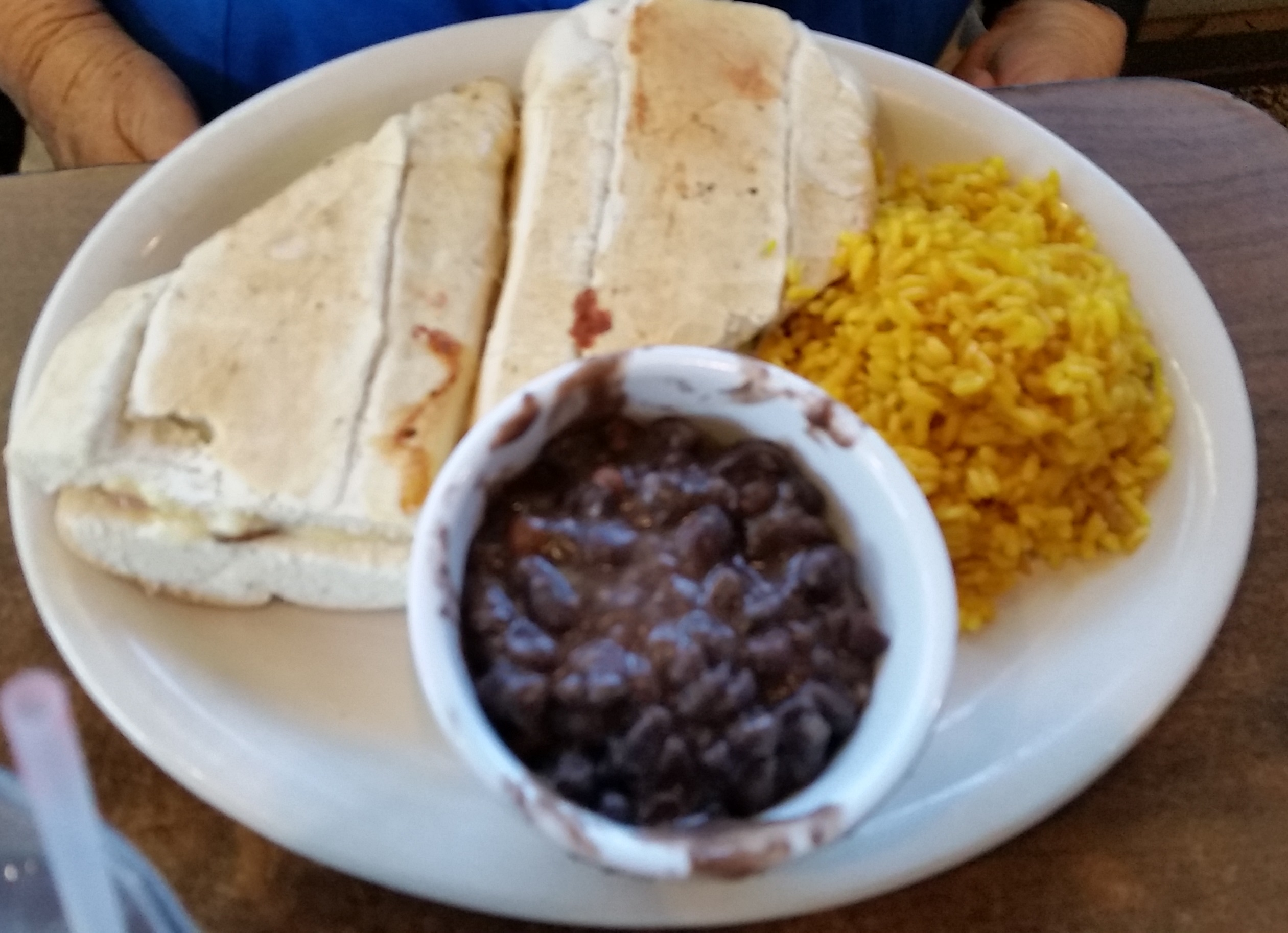 Cuban with beans and rice