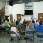 Ben Montgomery speaks at the monthly meeting of The Adventurous Woman.