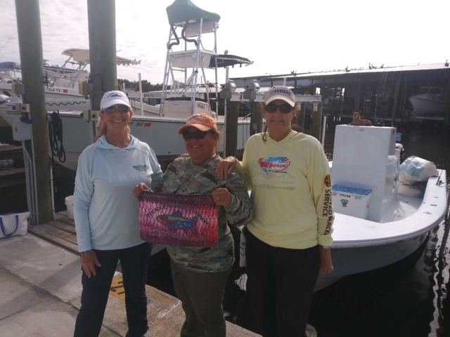 Brenda and Loretta, part of the team who fished in the Johnny Kellar Inshore Fishing Tournament