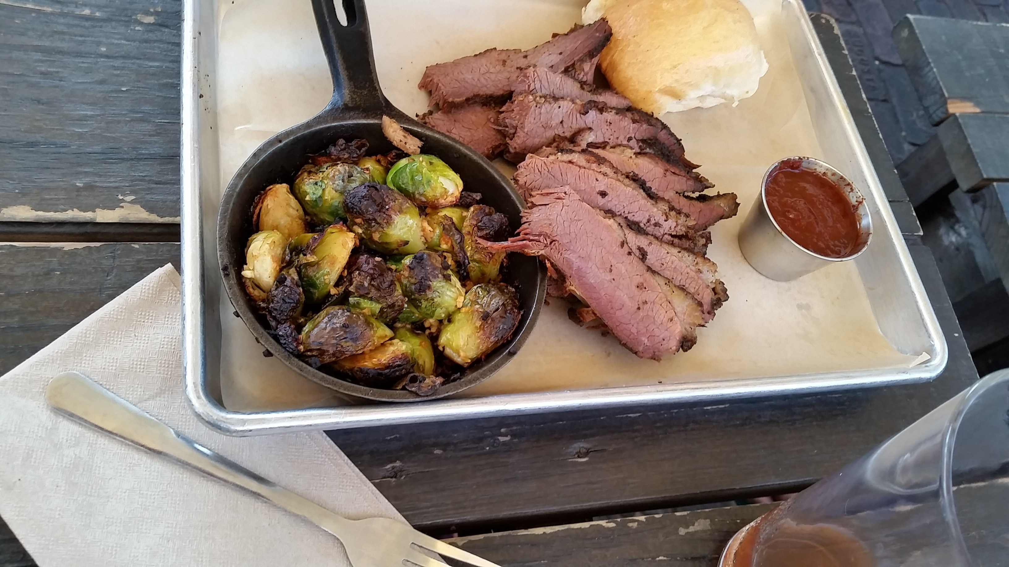 Brussel Sprouts and Brisket